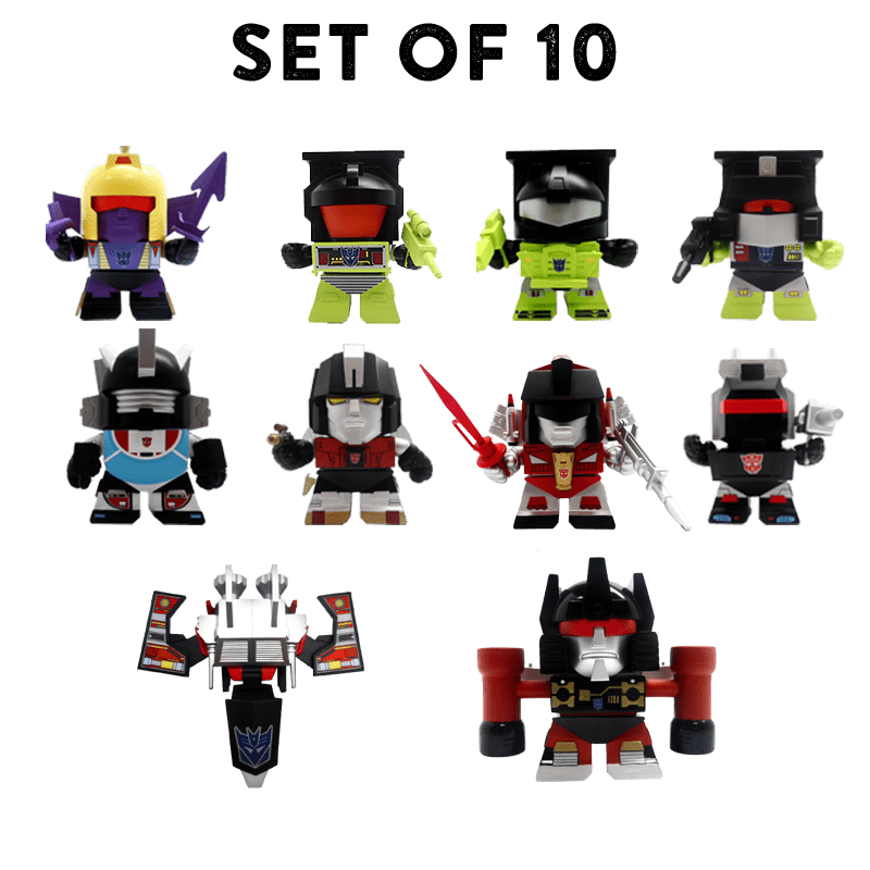 Complete Set of 10 Transformers G1 3-inch vinyl figures Series 03 - Figure Flat - Figure Flat - RIPT Apparel