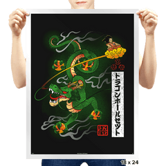 Woodblock Dragon Exclusive - Prints - Posters - RIPT Apparel