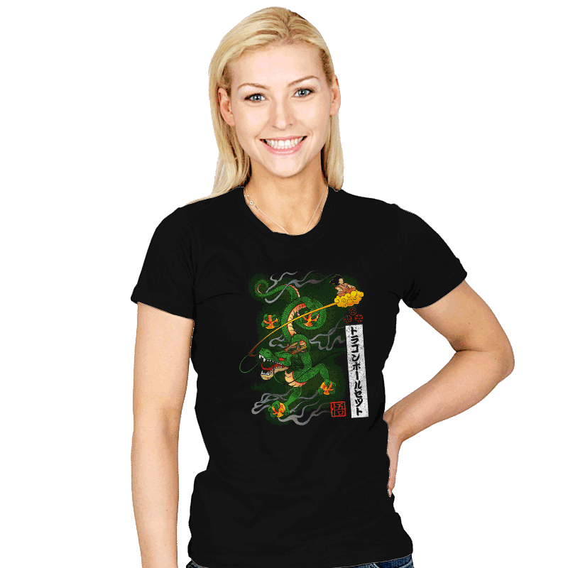 Woodblock Dragon Exclusive - Womens - T-Shirts - RIPT Apparel