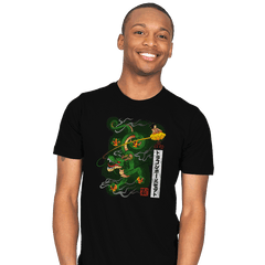 Woodblock Dragon Exclusive - Mens - T-Shirts - RIPT Apparel