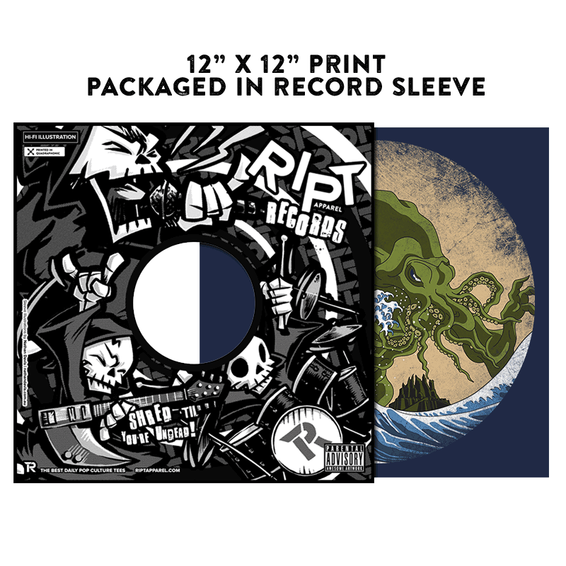 Hokusai Cthulhu - Album Cover Prints - Posters - RIPT Apparel