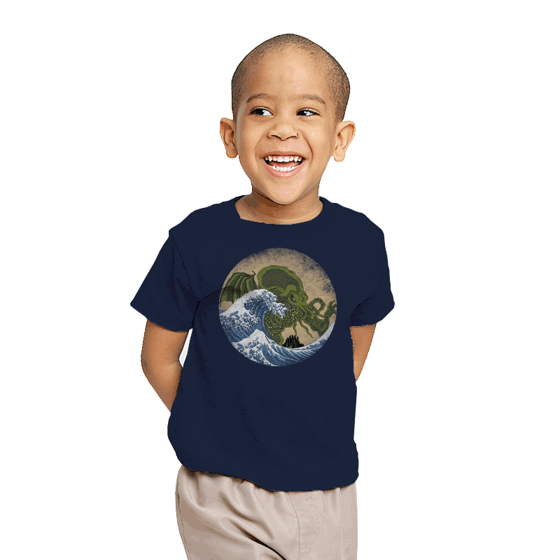 Hokusai Cthulhu - Youth - T-Shirts - RIPT Apparel