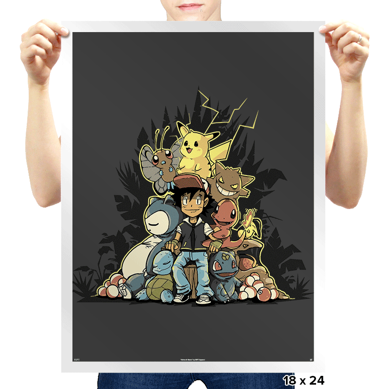 Pokethrone - Prints - Posters - RIPT Apparel