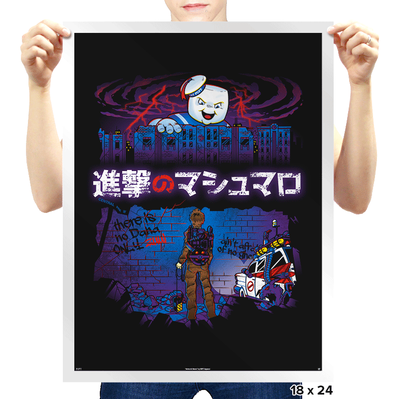 Attack on Marshmallow - Prints - Posters - RIPT Apparel