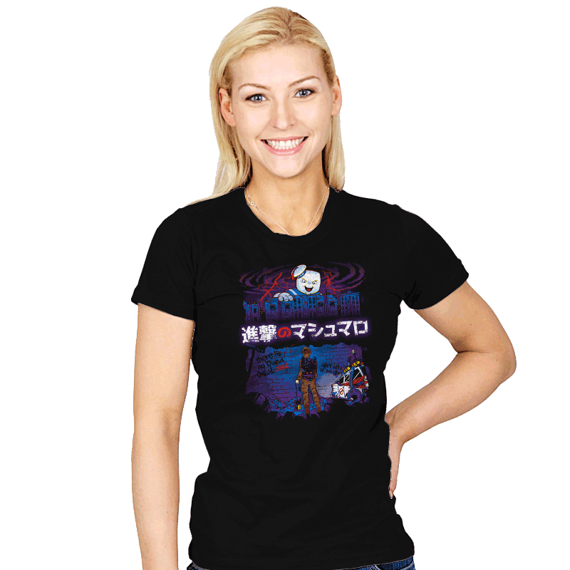 Attack on Marshmallow - Womens - T-Shirts - RIPT Apparel