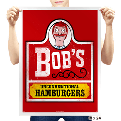 Unconventional Burgers - Prints - Posters - RIPT Apparel