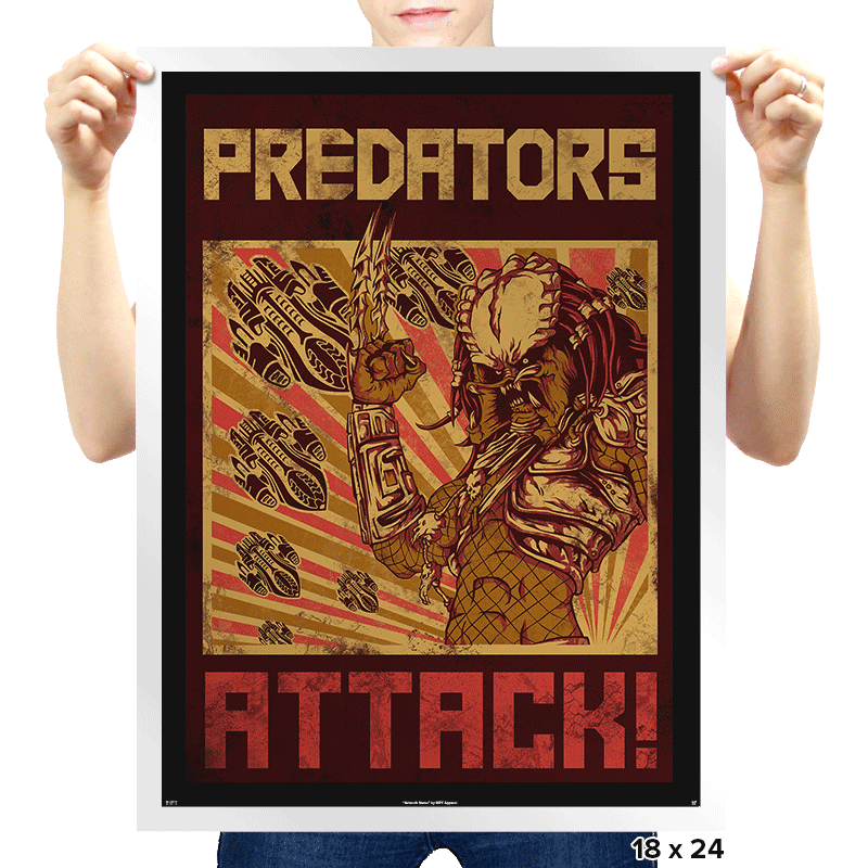 Predators Attack! - Prints - Posters - RIPT Apparel