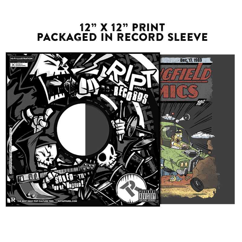 Springfield Comics - Album Cover Prints - Posters - RIPT Apparel