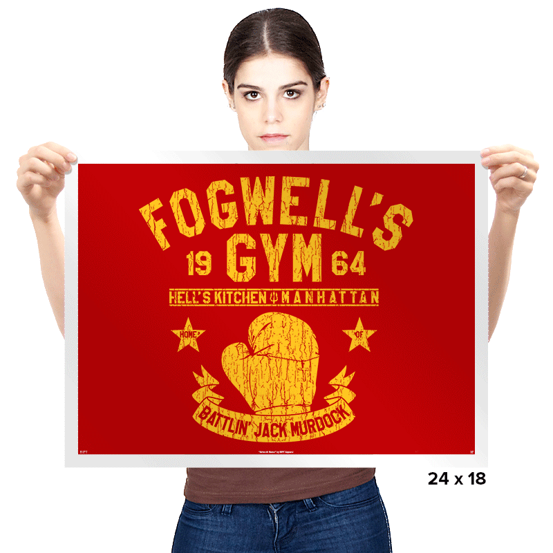 Fogwell's Gym - Prints - Posters - RIPT Apparel