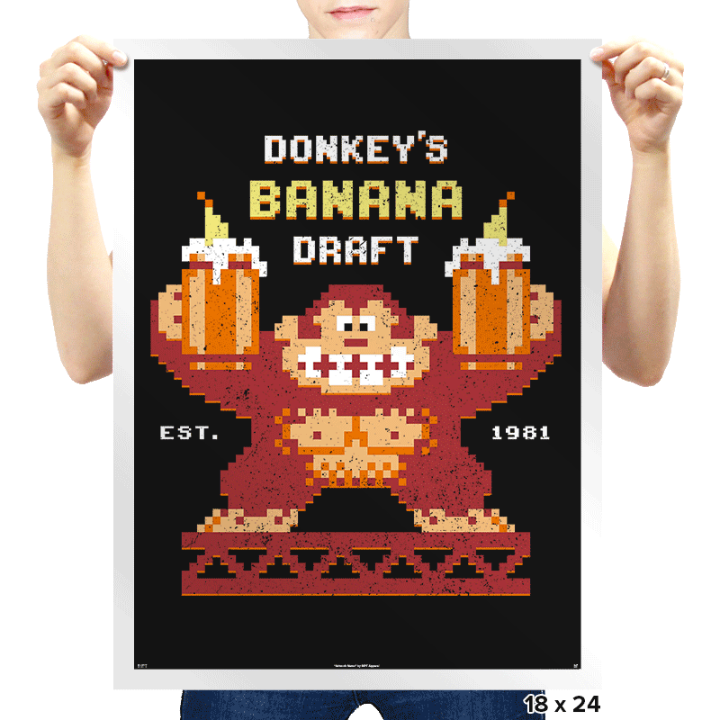 Donkey's Banana Draft - Prints - Posters - RIPT Apparel