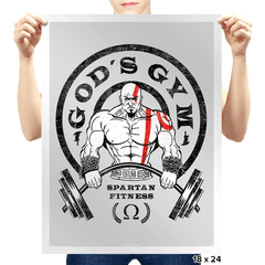 God's Gym - Prints - Posters - RIPT Apparel