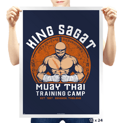 Muay Thai Camp - Prints - Posters - RIPT Apparel