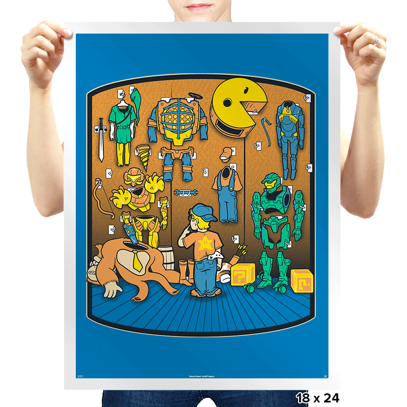 Gamer's Closet - Prints - Posters - RIPT Apparel