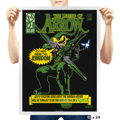 The Emerald Archer - Prints - Posters - RIPT Apparel