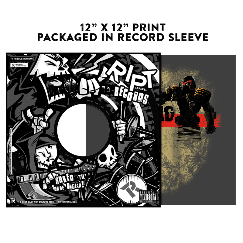 The Walking Dredd - Album Cover Prints - Posters - RIPT Apparel
