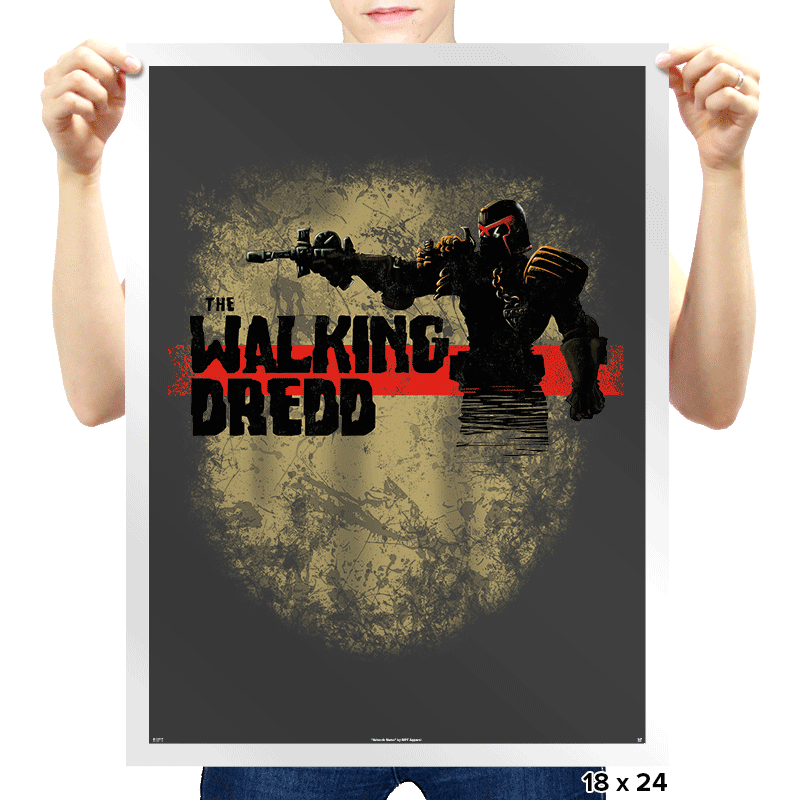 The Walking Dredd - Prints - Posters - RIPT Apparel