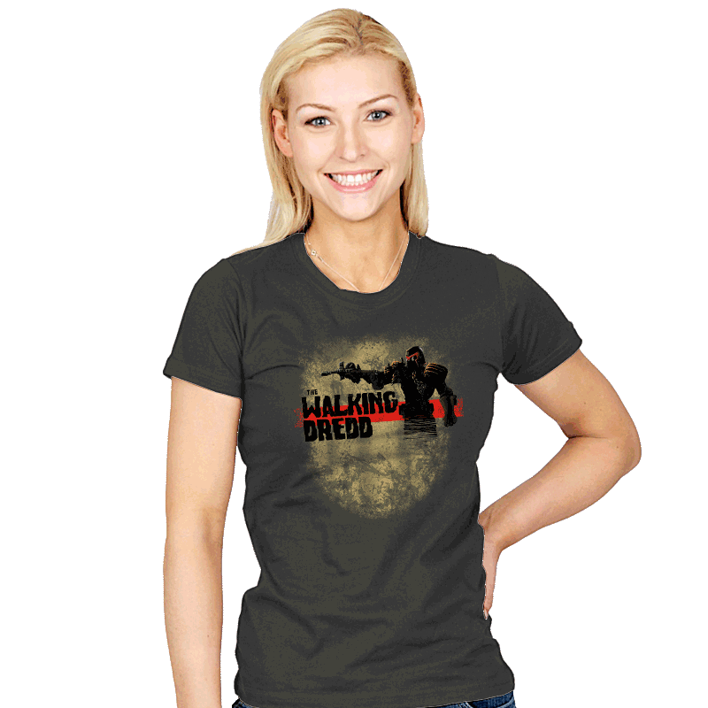The Walking Dredd - Womens - T-Shirts - RIPT Apparel