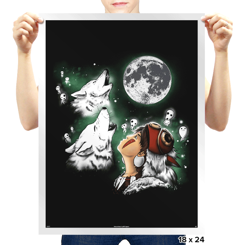Princess Wolf Moon - Prints - Posters - RIPT Apparel