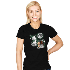 Princess Wolf Moon - Womens - T-Shirts - RIPT Apparel