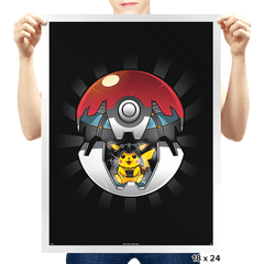 Pika Choose The Dark Side Exclusive - Prints - Posters - RIPT Apparel