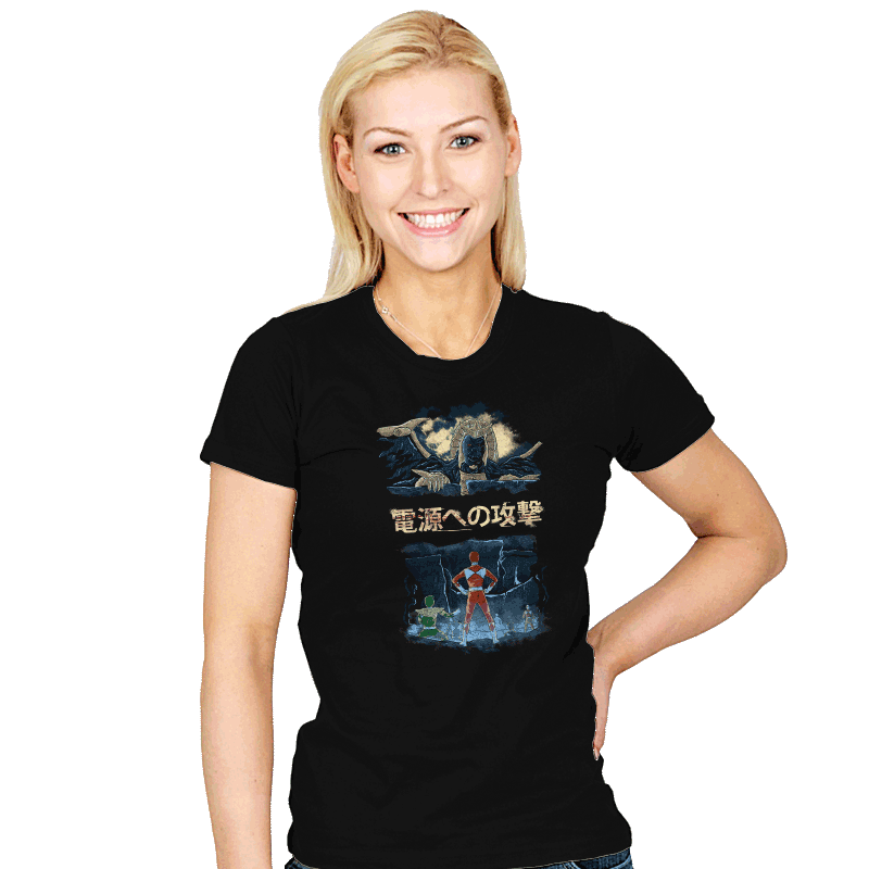 Attack on Goldar - Womens - T-Shirts - RIPT Apparel