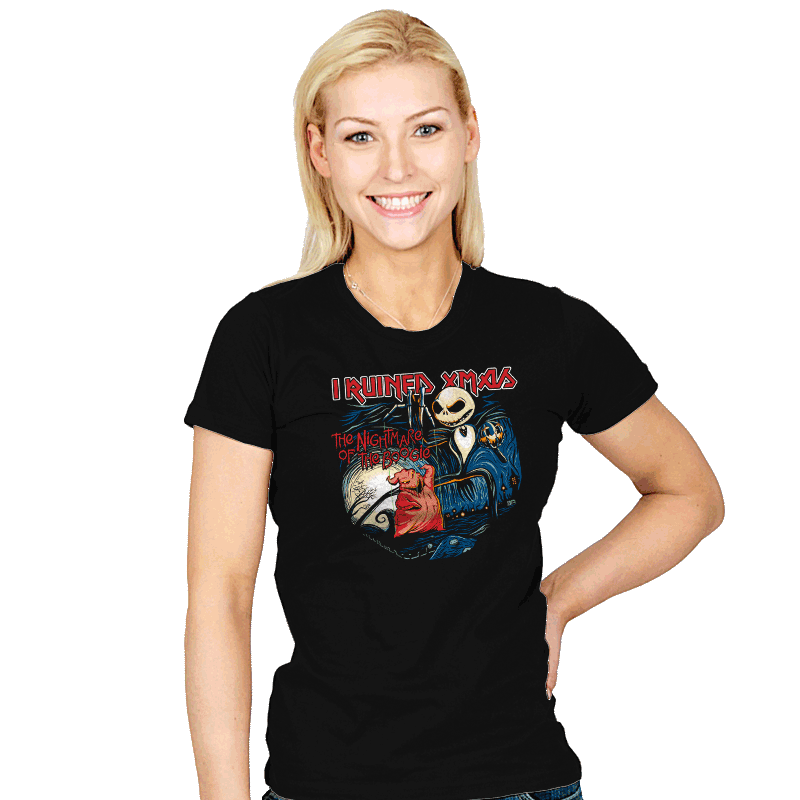 I Ruined Xmas - Womens - T-Shirts - RIPT Apparel