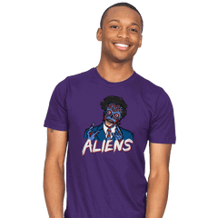 Because Aliens! - Mens - T-Shirts - RIPT Apparel