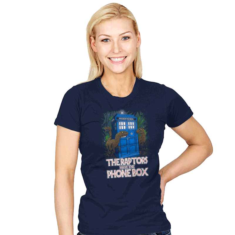 The Raptors Have the Phone Box - Womens - T-Shirts - RIPT Apparel