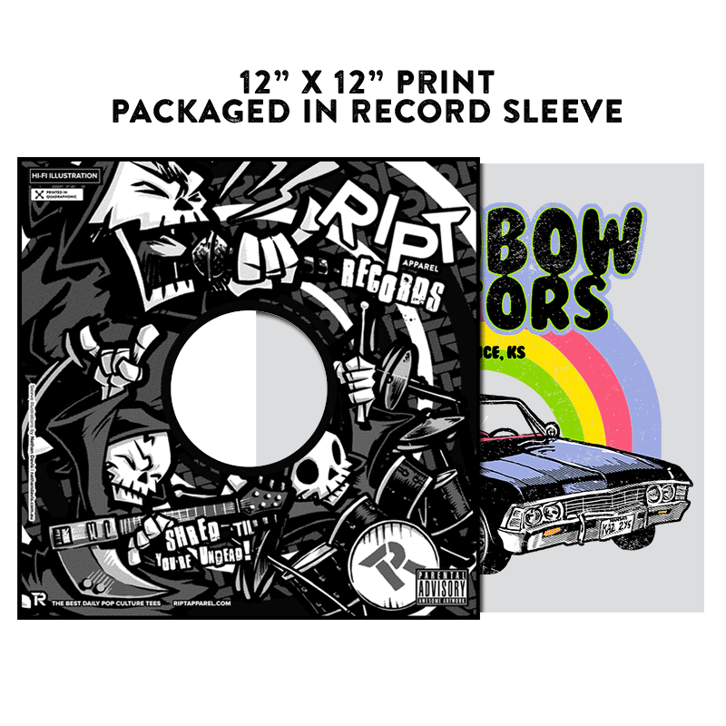 Rainbow Motors - Album Cover Prints - Posters - RIPT Apparel