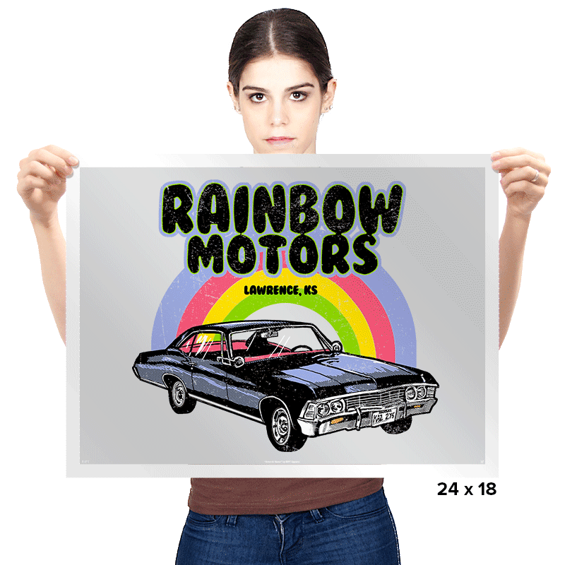 Rainbow Motors - Prints - Posters - RIPT Apparel