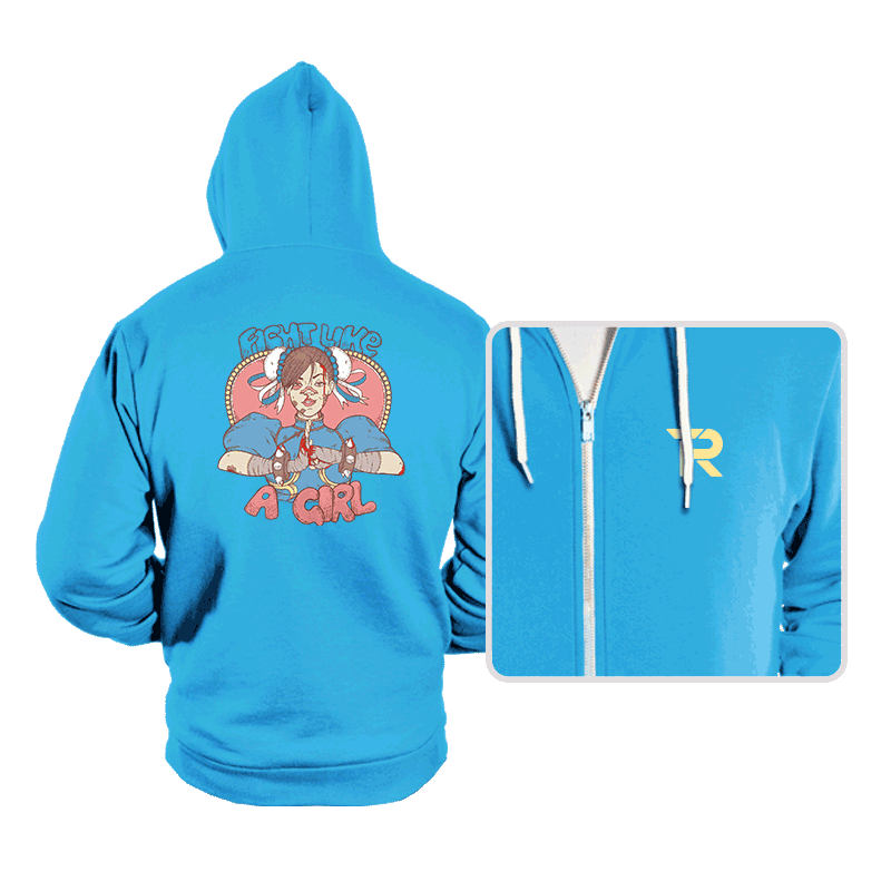 Fight Like A Girl - Hoodies - Hoodies - RIPT Apparel