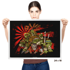 Adolescent Abnormal Shinobi Reptiles - Prints - Posters - RIPT Apparel