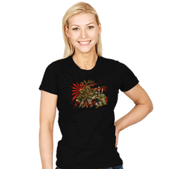 Adolescent Abnormal Shinobi Reptiles - Womens - T-Shirts - RIPT Apparel
