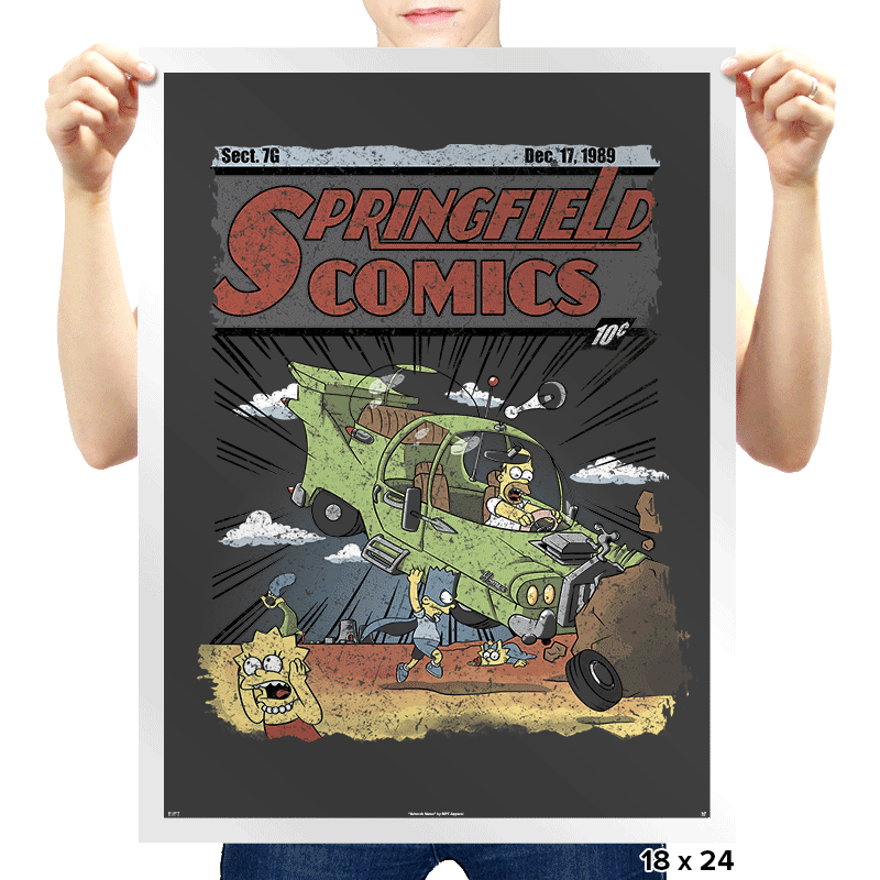 Springfield Comics Exclusive - Prints - Posters - RIPT Apparel