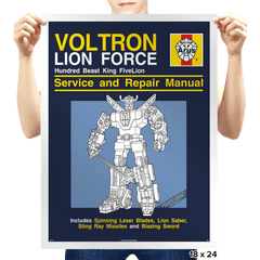 Lion Force Service and Repair Manual - Prints - Posters - RIPT Apparel