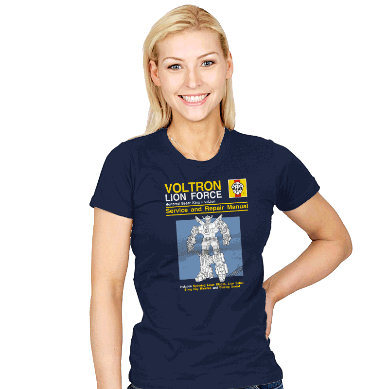 Lion Force Service and Repair Manual - Womens - T-Shirts - RIPT Apparel