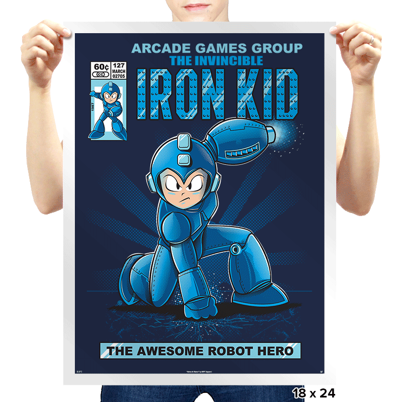 Iron Kid - Prints - Posters - RIPT Apparel
