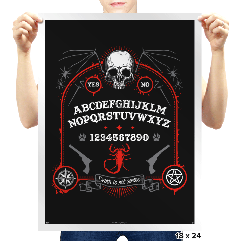 Death is Not Serene  - Prints - Posters - RIPT Apparel