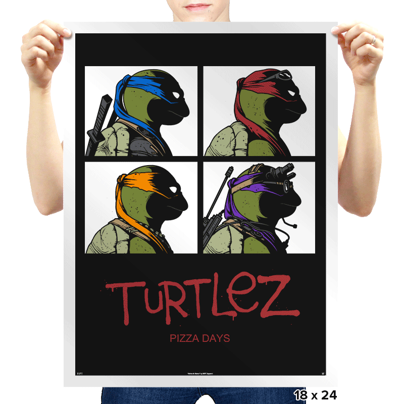 Turtlez - Prints - Posters - RIPT Apparel
