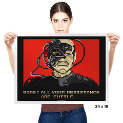 Resistance Are Futile - Prints - Posters - RIPT Apparel