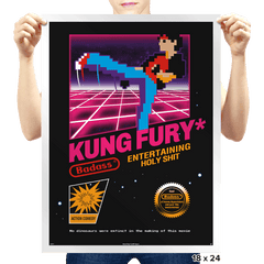Kung Fu Retro Game - Prints - Posters - RIPT Apparel