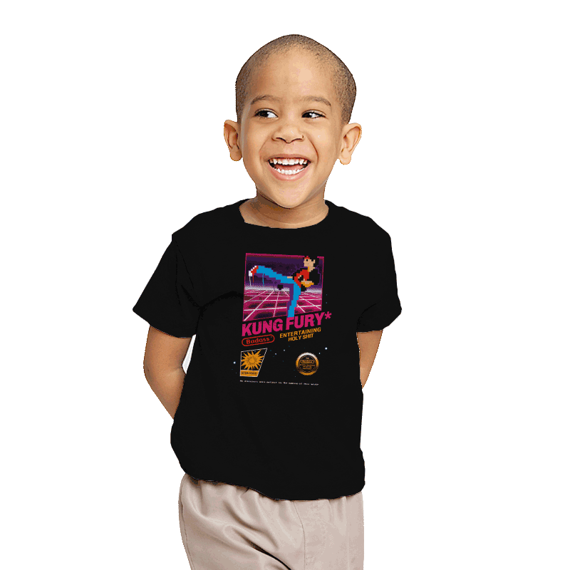 Kung Fu Retro Game - Youth - T-Shirts - RIPT Apparel