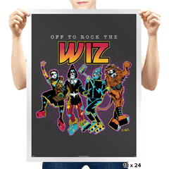 Off To Rock the Wiz - Prints - Posters - RIPT Apparel