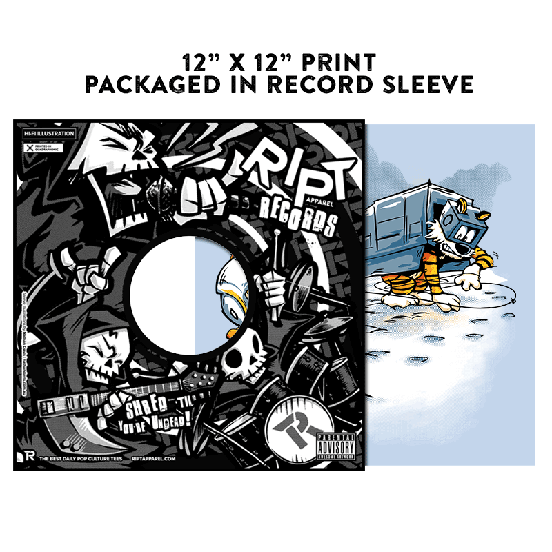 Attack of the Deranged Killer Snow Walkers - Album Cover Prints - Posters - RIPT Apparel