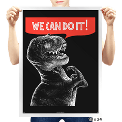 Rexy Can Do It! - Prints - Posters - RIPT Apparel