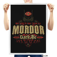 Mordor Dark Ale - Prints - Posters - RIPT Apparel