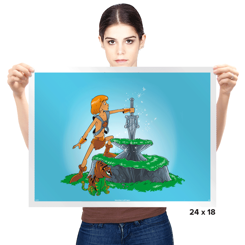 Power Sword and the Stone Exclusive - Prints - Posters - RIPT Apparel