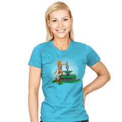Power Sword and the Stone Exclusive - Womens - T-Shirts - RIPT Apparel