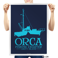 Orca Fishing Charter - Prints - Posters - RIPT Apparel