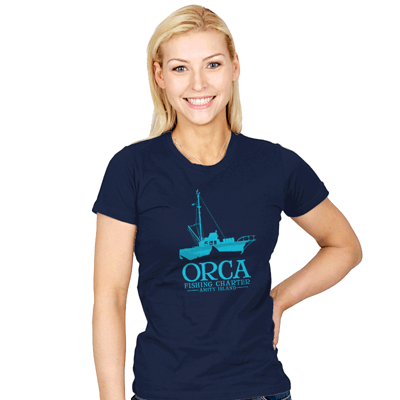 Orca Fishing Charter - Womens - T-Shirts - RIPT Apparel